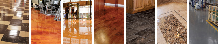 The different types of hard floors