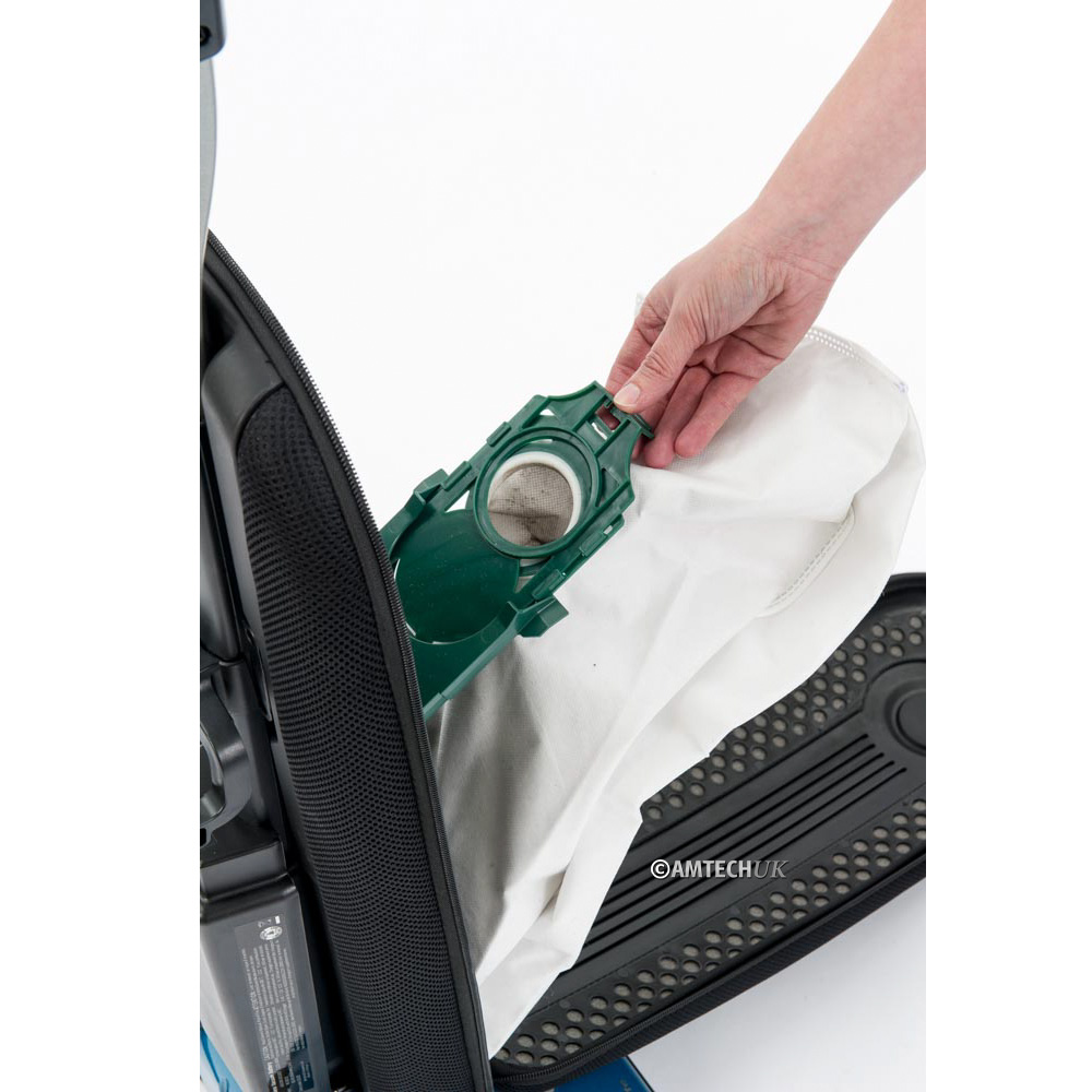 Battery vacuum cleaner snap in dust bag.