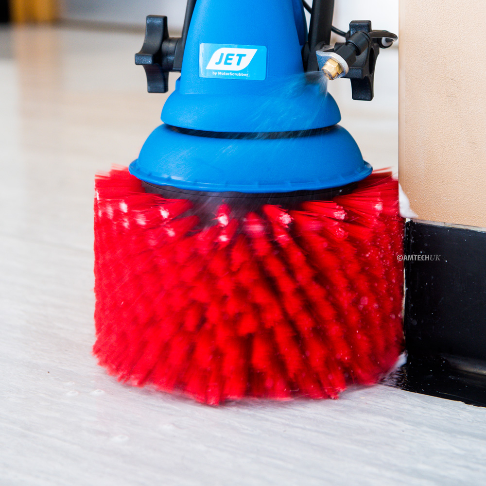 Close up view of the MotorScrubber Jet brush
