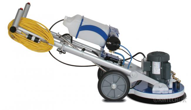 HOS Orbot floor cleaning machine low angle working profile