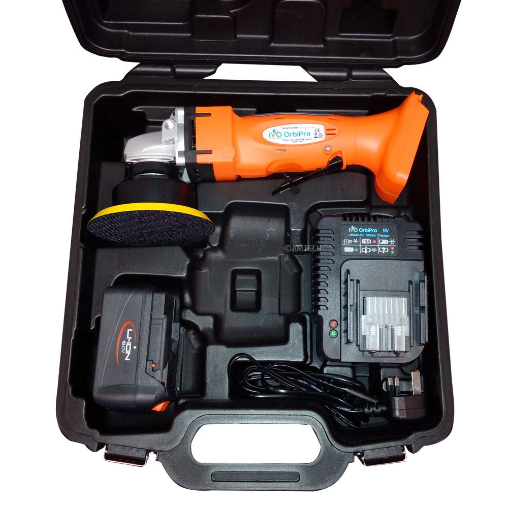 iVo Orbipro cordless hand tool in tool box