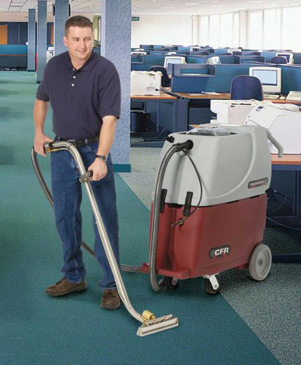 Janitor Cleaning Office Carpets