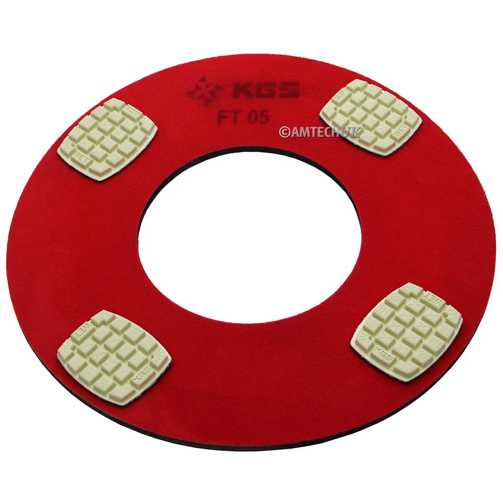 800 Grit pucks on the KGS diamond pad holder