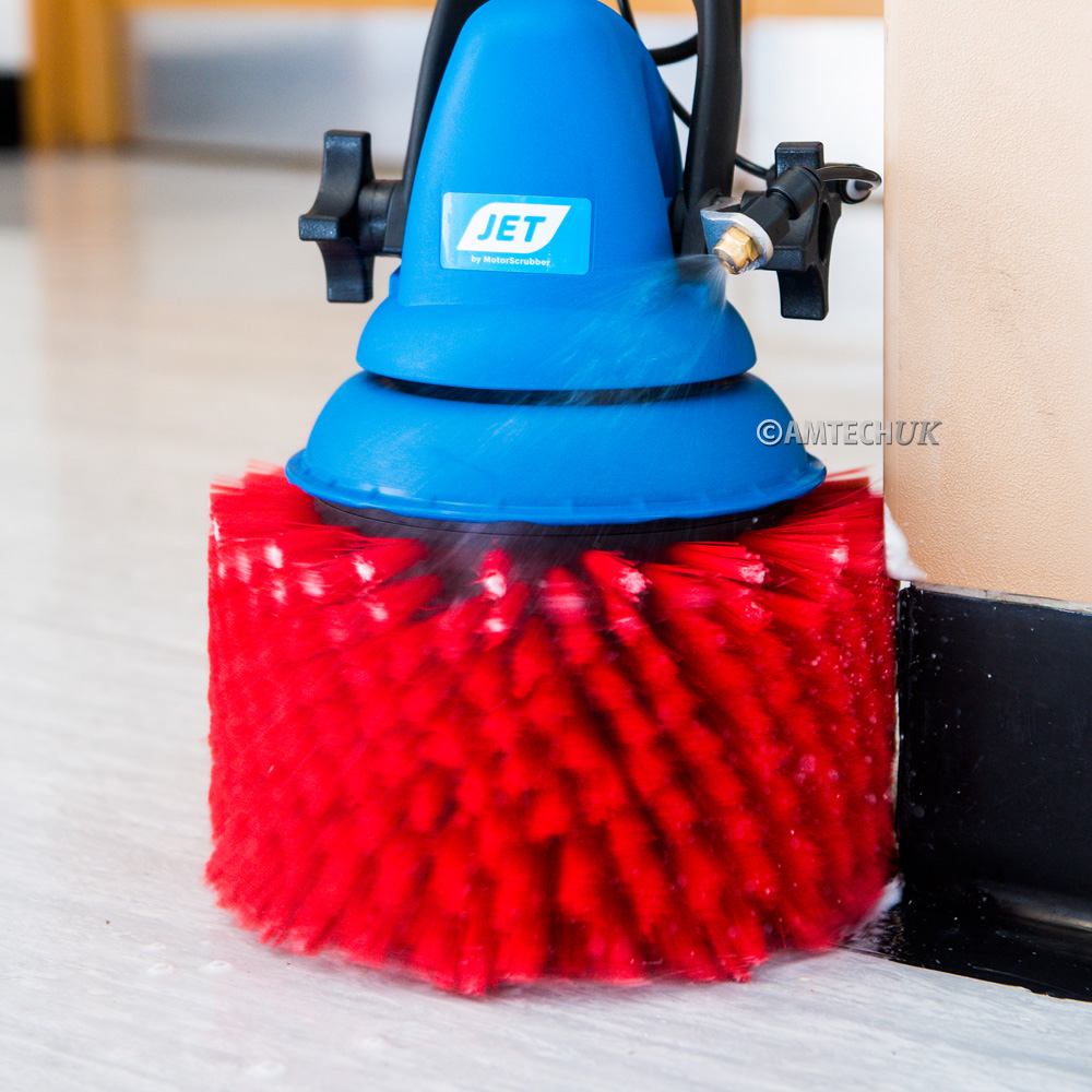 motorscrubber stair brush cleaning skirting boards