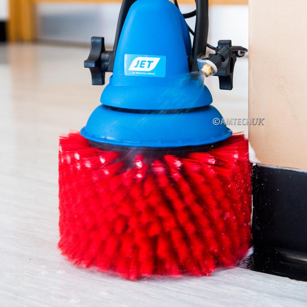 motorscrubber stair brush cleaning skirting boards