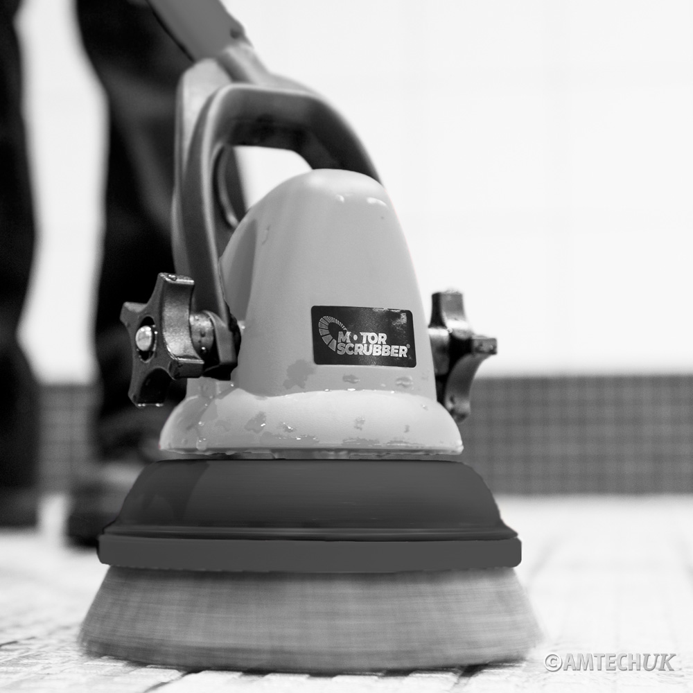 MS2000 MK3 MotorScrubber cleaning tiled floors