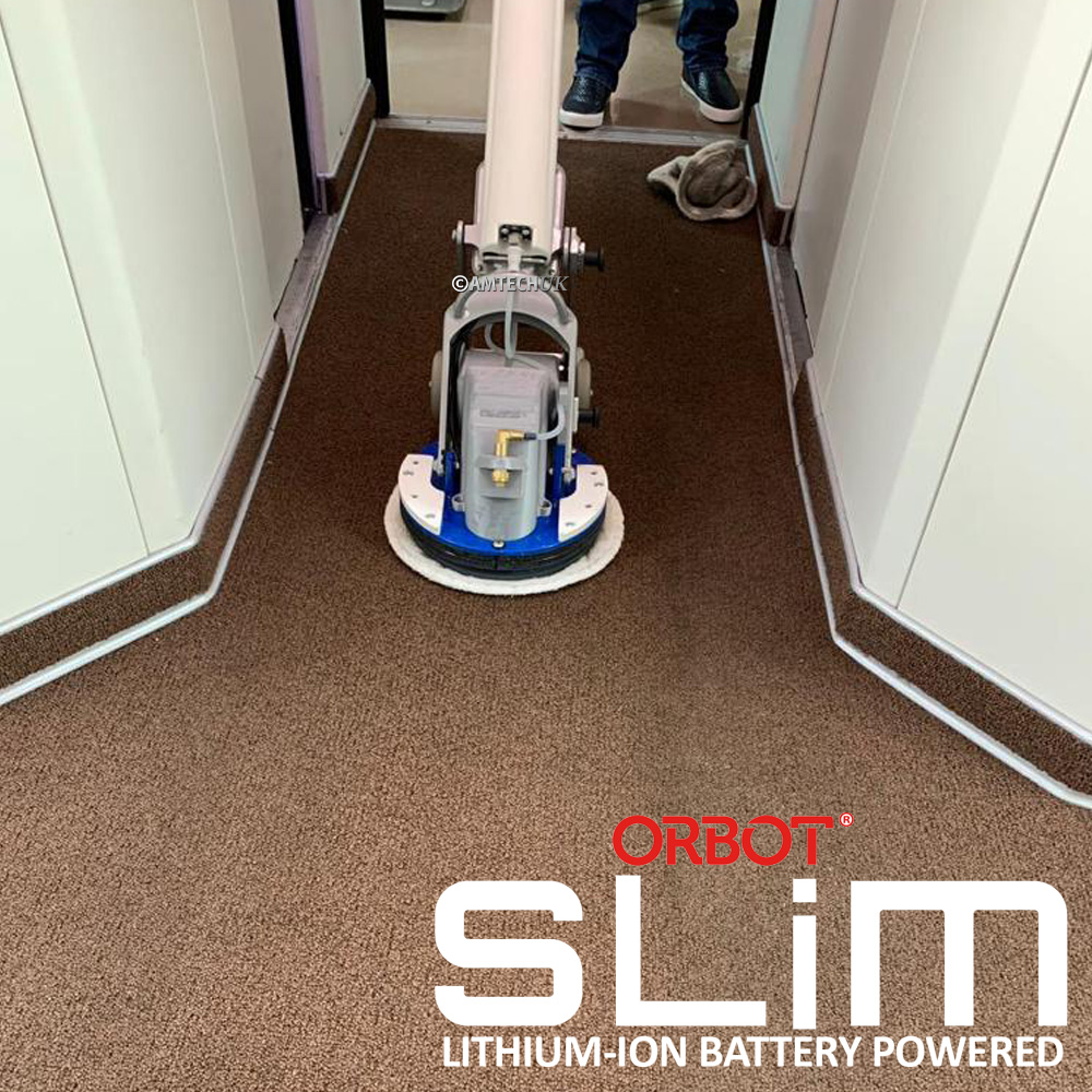 Orbot slim bonnet carpet cleaning machine