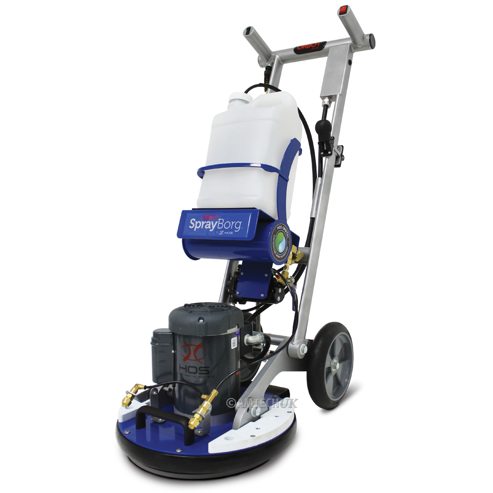 Hos orbot sprayborg floor cleaning machine amtech uk for Industrial concrete floor cleaning machines