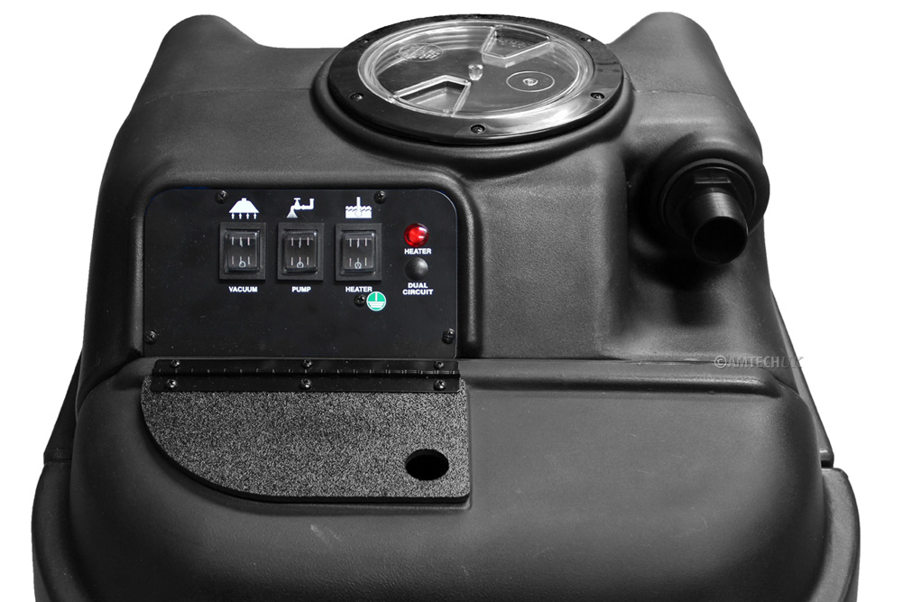 Powr Flite PFX 1085 Black Max easy access control pannel.