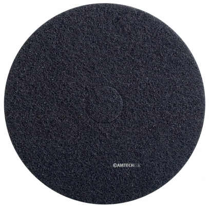 "17"" Black Strip Floor Pad, Black"