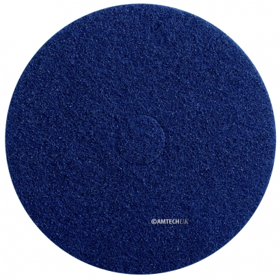 "17"" Blue Deep Scrub Floor Polishing Pad"
