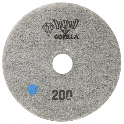 "17"" Diamond Pad By Gorilla - 200 Grit"
