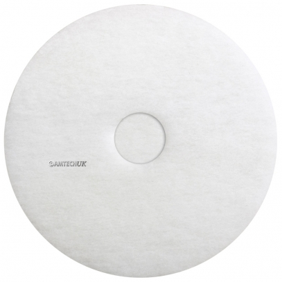 "17"" White Floor Polishing Pad"
