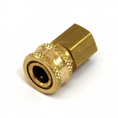 Brass Coupler, QD 1/8 F