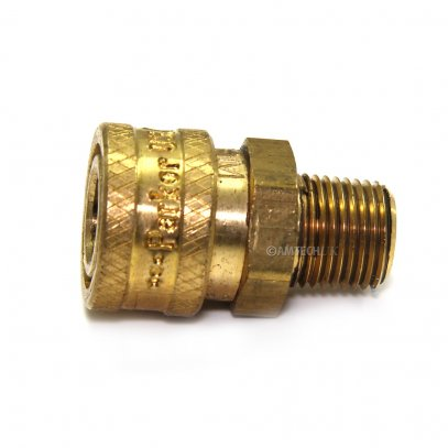 Brass Coupler, QD 1/8 M