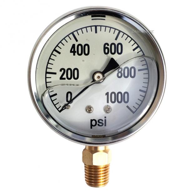 1000 PSI Pressure Gauge