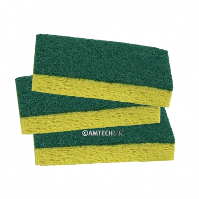 Abrasive Green Backed Scrubber Sponges