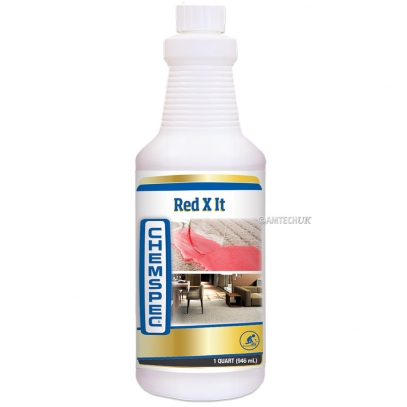 Chemspec Red X It stain remover for synthetic dyes.
