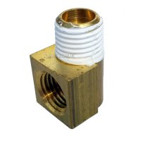 "Orbot SprayBorg 1/4"" Brass Elbow"