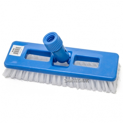 Tile & grout brush with swivel head