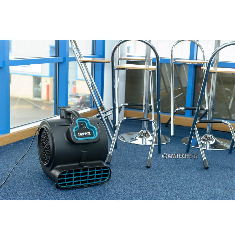 Truvox AM3000 drying carpet.