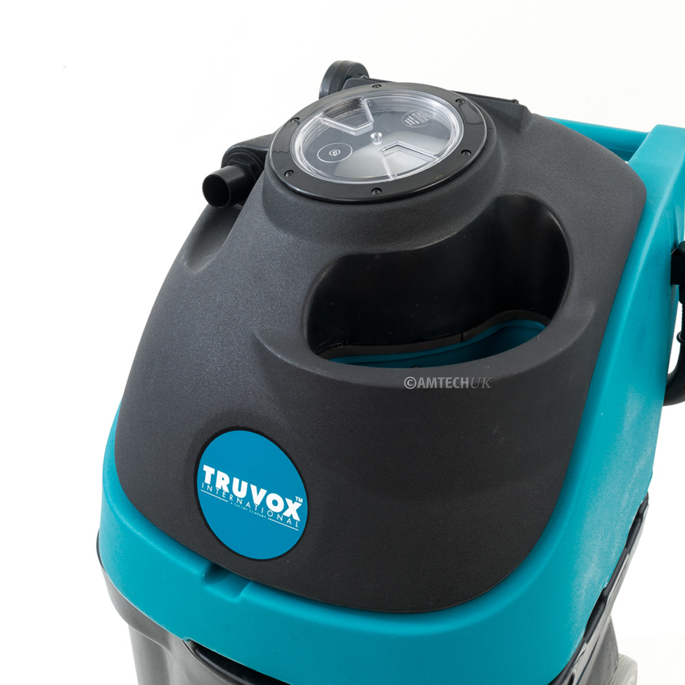 A top view of the Truvox Hydromist 55 100psi carpet cleaning machine.