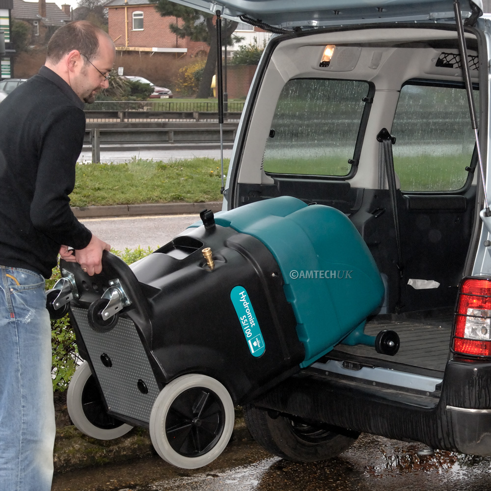 Easy to load the hydromist into van or car.