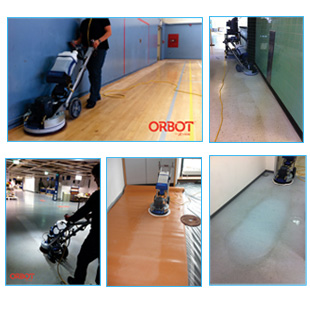 Chemical free refinishing of floors