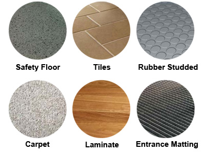 The different types of floors Truvox Multiwash can clean